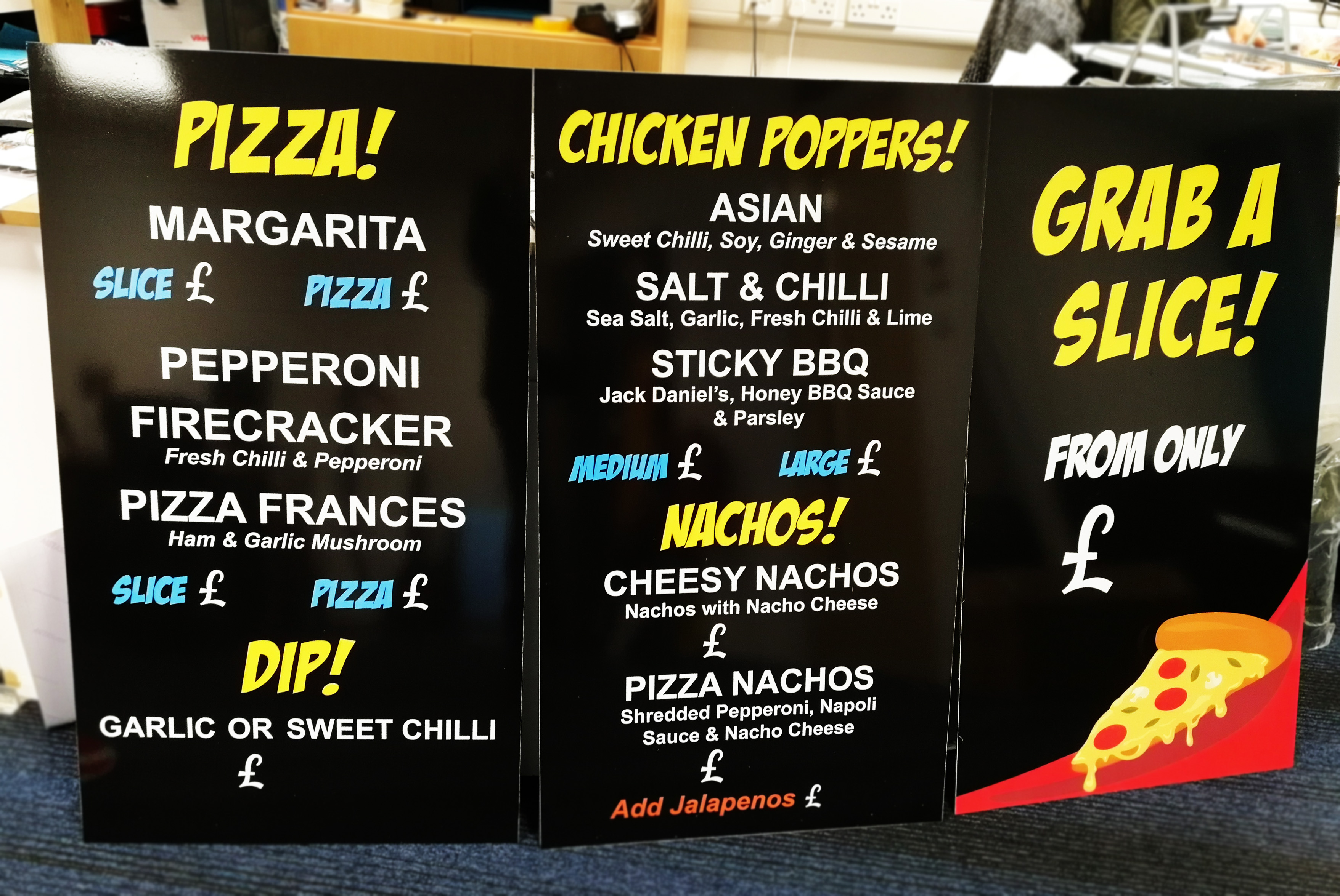 Pizza---Chicken-Poppers-Menu-Boards